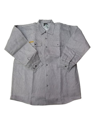 Prison Blues USA Hickory Long-Sleeve Button-Front Shirt