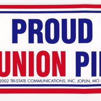'Proud to be a Union Pipefitter' Bumper Sticker #BP-214-PF