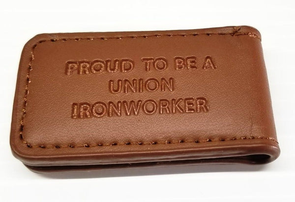 'Proud to be a Union Ironworker' Magnetic Money Clip