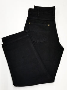 Prison Blues USA Black Double Knee Denim #123