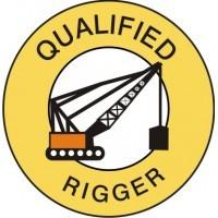 Qualified Rigger Hard Hat Sticker
