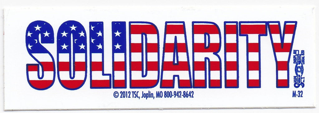 'Solidarity' Bumper Sticker #BP320