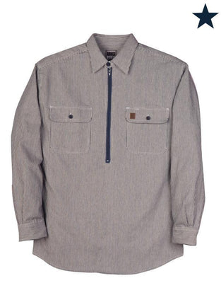 Big Bill Zip Up Hickory Long Sleeve Shirt #183