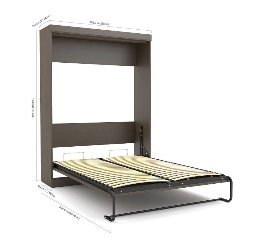 Beds - Murphy Wall Bed With Storage Unit, Dark Chocolate - Full Or Queen