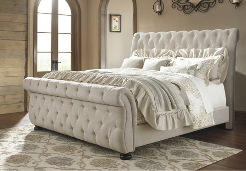 Beds - Upholstered Sleigh Bed - King Or Queen