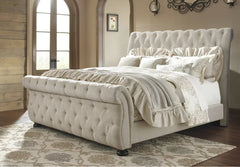 Upholstered Sleigh Bed - King or Queen