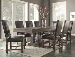 Dining - Parador 9-piece Dining Set - Bonded Leather