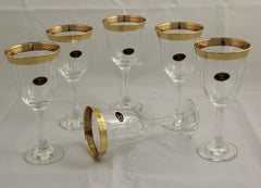 Gold-Rimmed 9 Oz. Red Wine Goblet - Set of 6