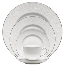 Fine China - English Lace Bone China 5-Piece Place Setting By Wedgwood