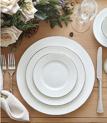 English Lace Bone China 5-Piece Place Setting by Wedgwood