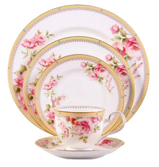 Fine China - Hertford Bone China 5 Piece Place Setting By Noritake