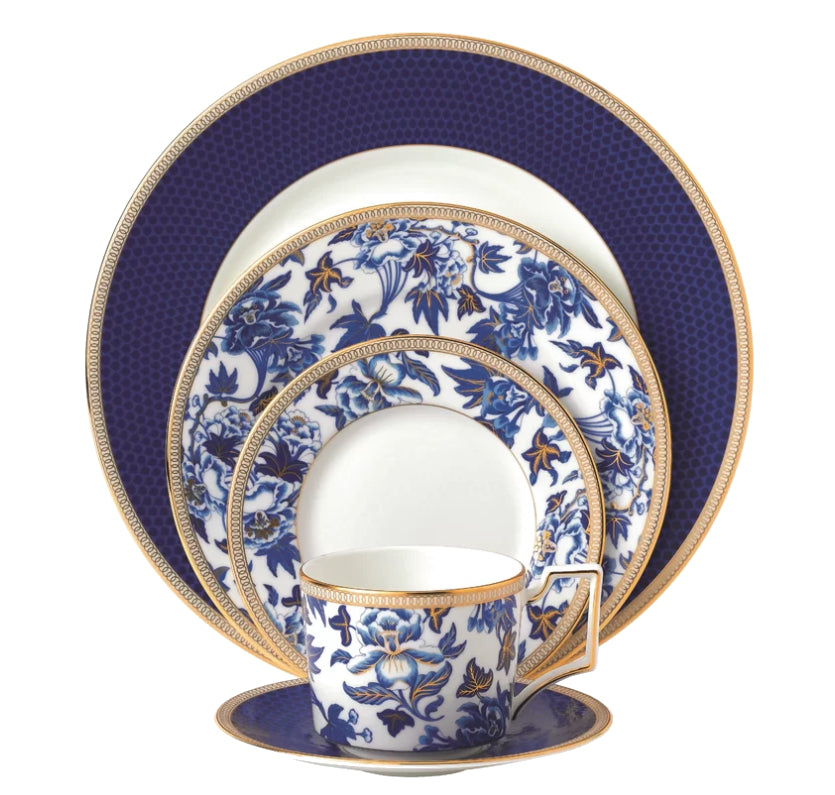 Fine China - Hibiscus Bone China 5 Piece Place Setting By Wedgewood