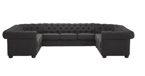 Sofas - Chesterfield Sectional Sofa - Deep Gray
