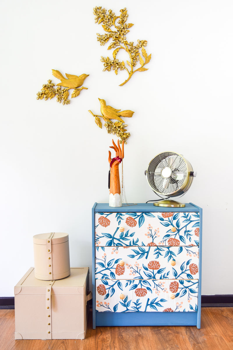 IKEA RAST Hack  Decoupage with Milk Paint