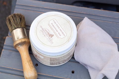wax, brush and cloth - HH Milk Paint