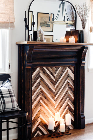 DIT Faux Mantle with Milk Paint and SFO