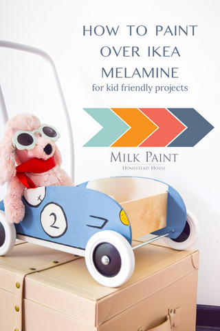 How to paint Melamine with Milk Paint / Ikea hack - Homestead House Milk Paint