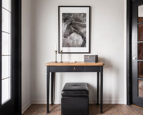 Coal Black entry console - Homestead House Paint Company