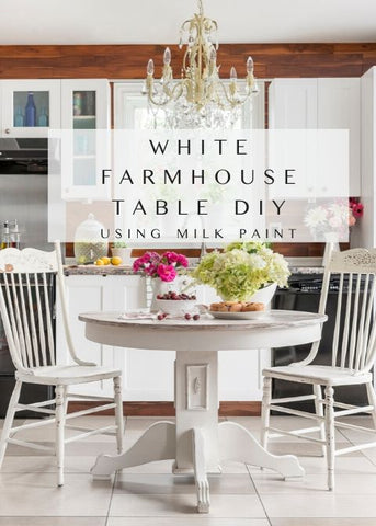 White Farmhouse Table Diy With Milk Paint By Homestead House