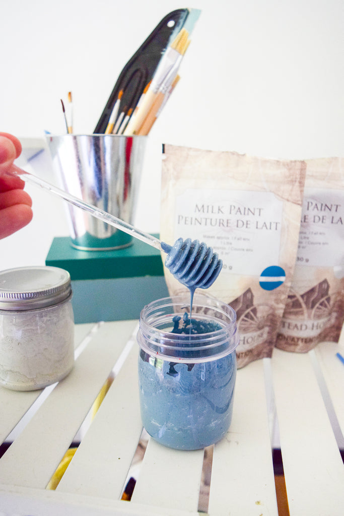 Painting over melamine aka most IKEA products, is actually totally doable using Milk Paint, you just need the right prep and the right products and inspiration