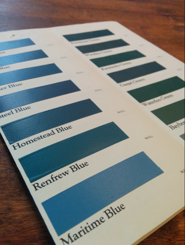 Colour card painted by hand