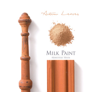 Milk Paint from Homestead House in Autumn Leaves, A deep rustic orange with a hint of rust.  |  homesteadhouse.ca