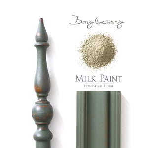 Milk Paint from Homestead House in Bayberry, A rich deep muted leaf green.  |  homesteadhouse.ca