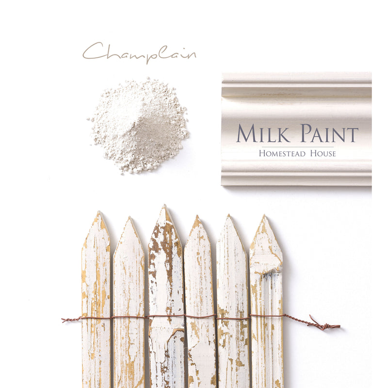 Milk Paint from Homestead House in Champlain, A perfect neutral ivory white with depth. | homesteadhouse.ca