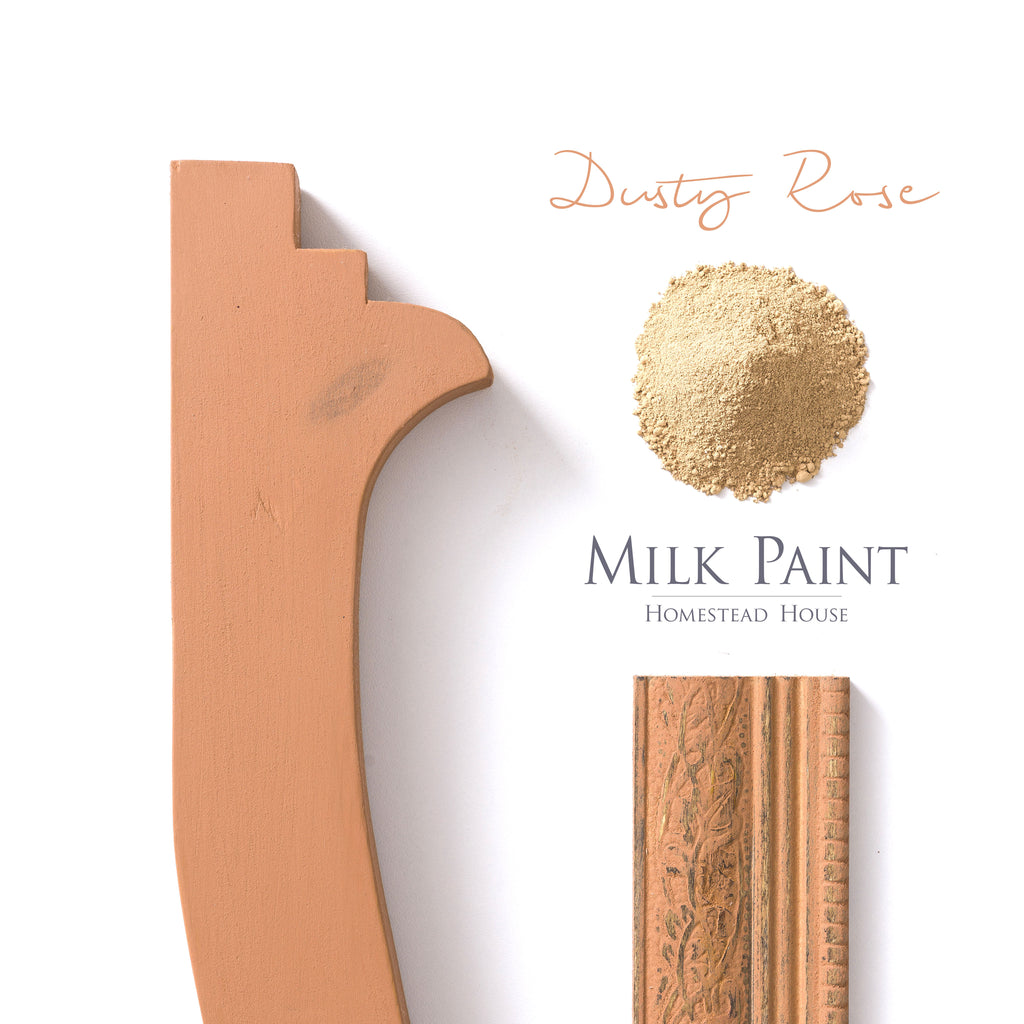 Milk Paint from Homestead House in Dusty Rose, A muted terra-cotta pink. | homesteadhouse.ca