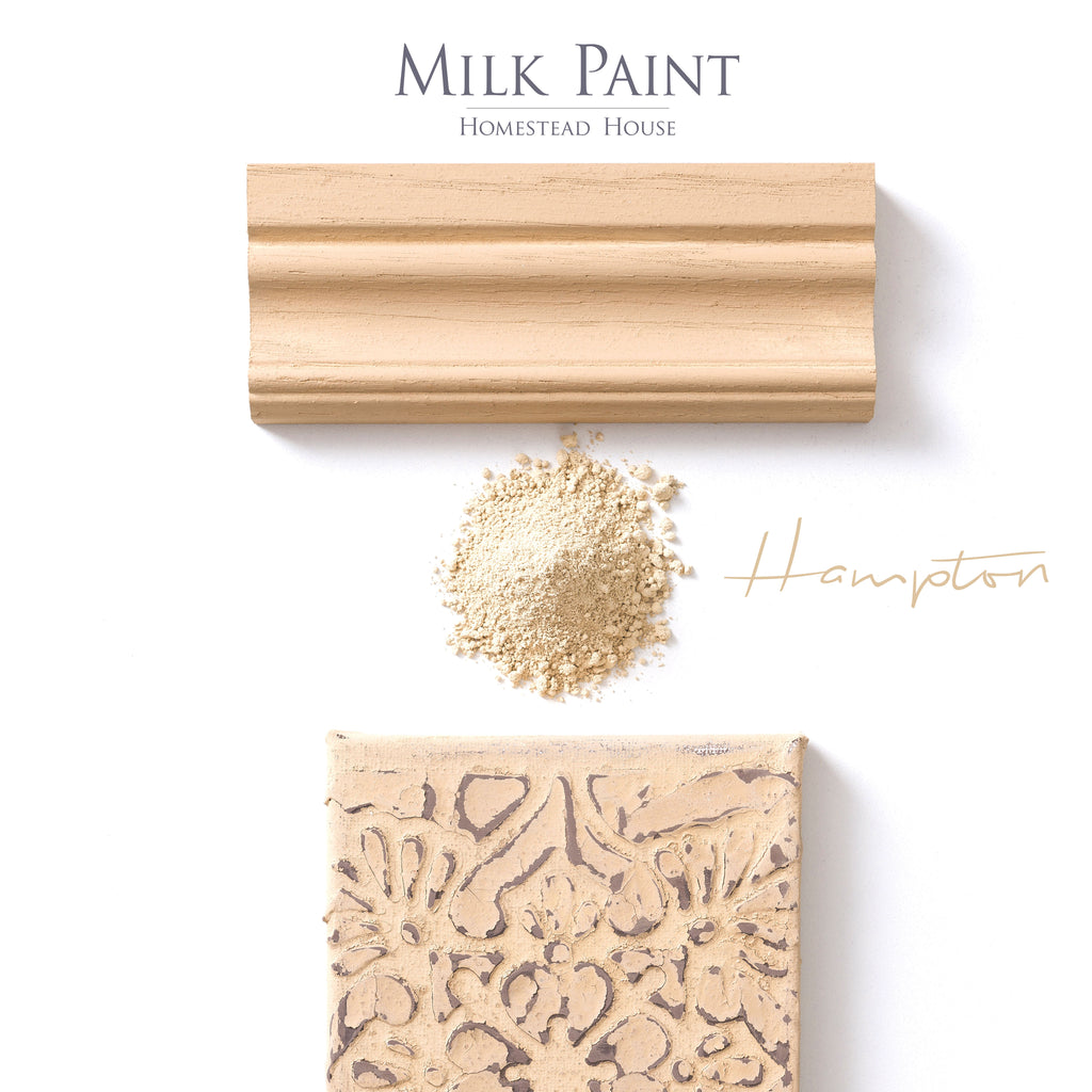 Milk Paint from Homestead House in Hampton, A muted tan with a hint of rust. | homesteadhouse.ca