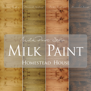 Milk Paint Stain by Homestead House.  |  homesteadhouse.ca