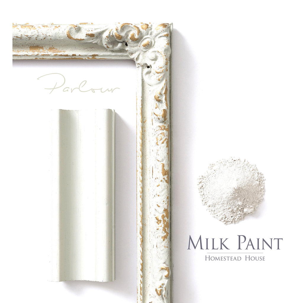 Milk Paint from Homestead House in Parlour - A pale green with a touch of grey | homesteadhouse.ca