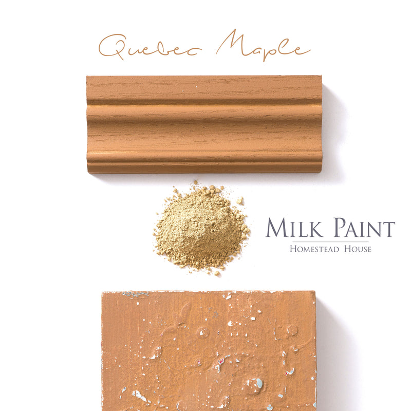 Milk Paint Stain by Homestead House in Quebec Maple.  |  homesteadhouse.ca