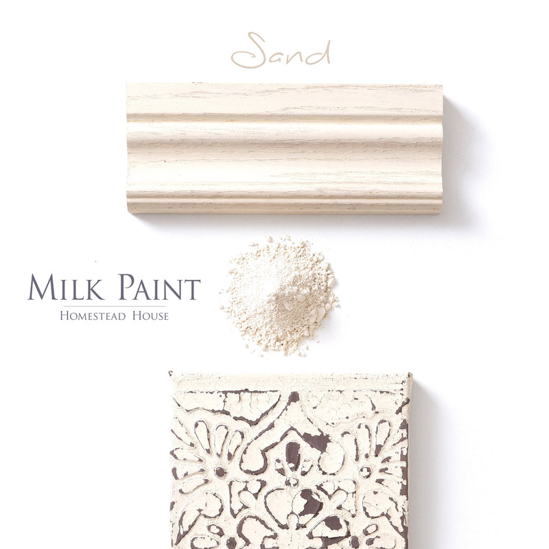 Milk Paint from Homestead House in Sand - A soft light beige colour. | homesteadhouse.ca