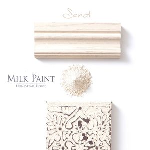 Milk Paint from Homestead House in Sand, a soft light beige colour.  |  homesteadhouse.ca