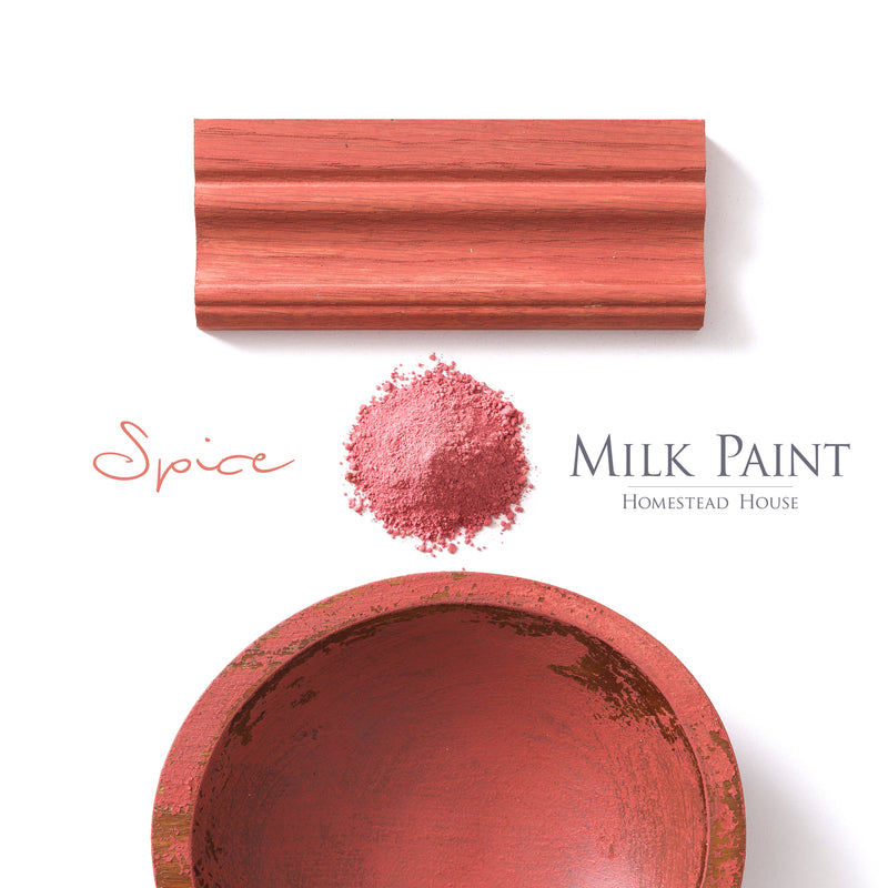 Milk Paint from Homestead House in Spice - An orange with a burnt red undertone Trading Post Red. | homesteadhouse.ca