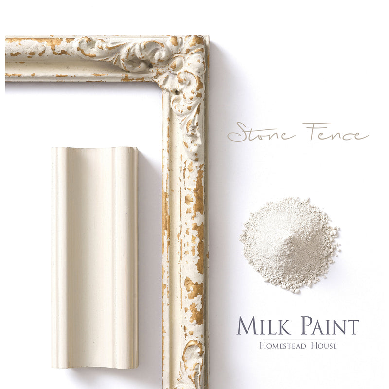 Milk Paint from Homestead House in Stone Fence - A light neutral with a muted green undertone. | homesteadhouse.ca