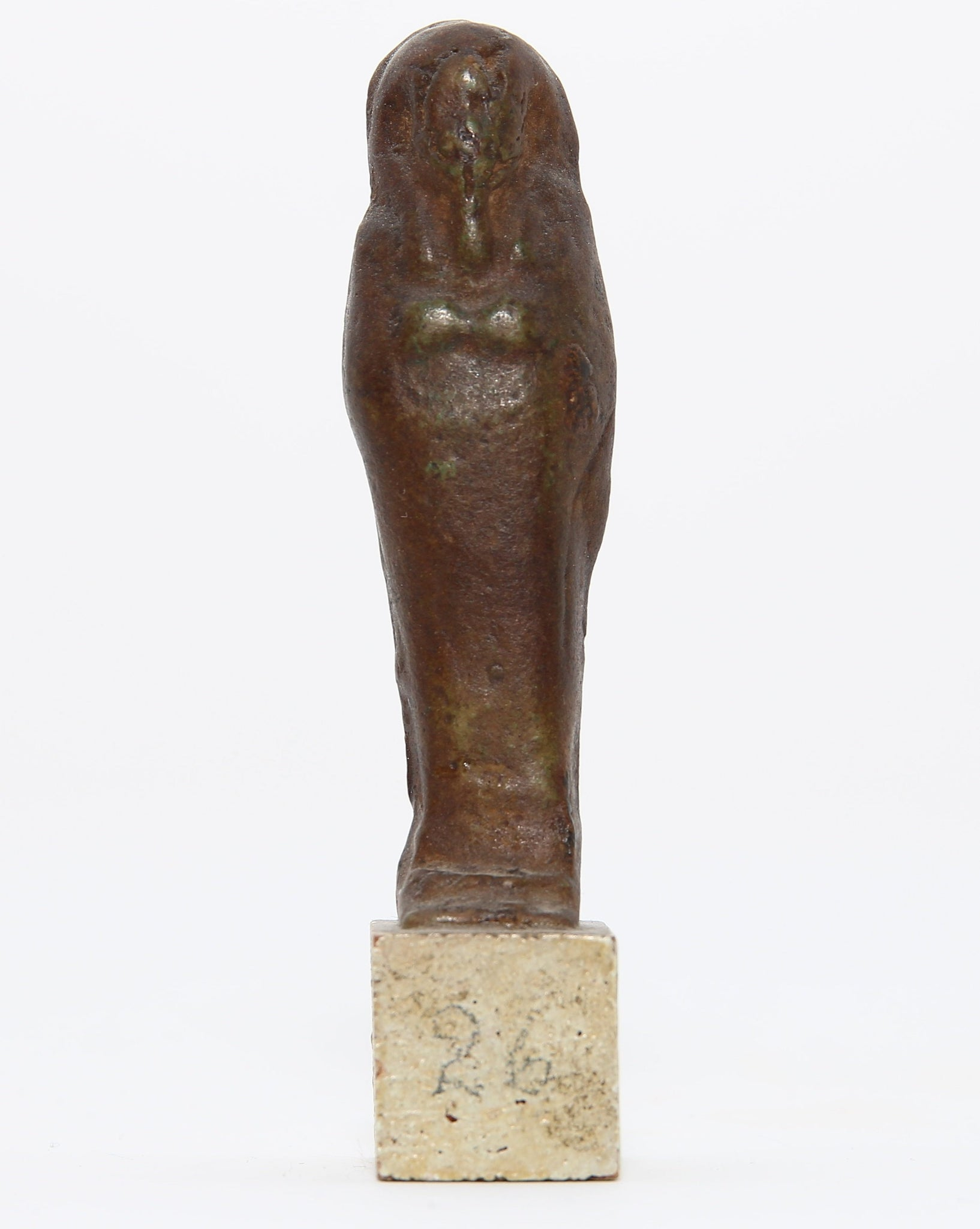 A glazed faience shabti figure with hieroglyphic inscription | End of Late Period, c. 4th Century BC