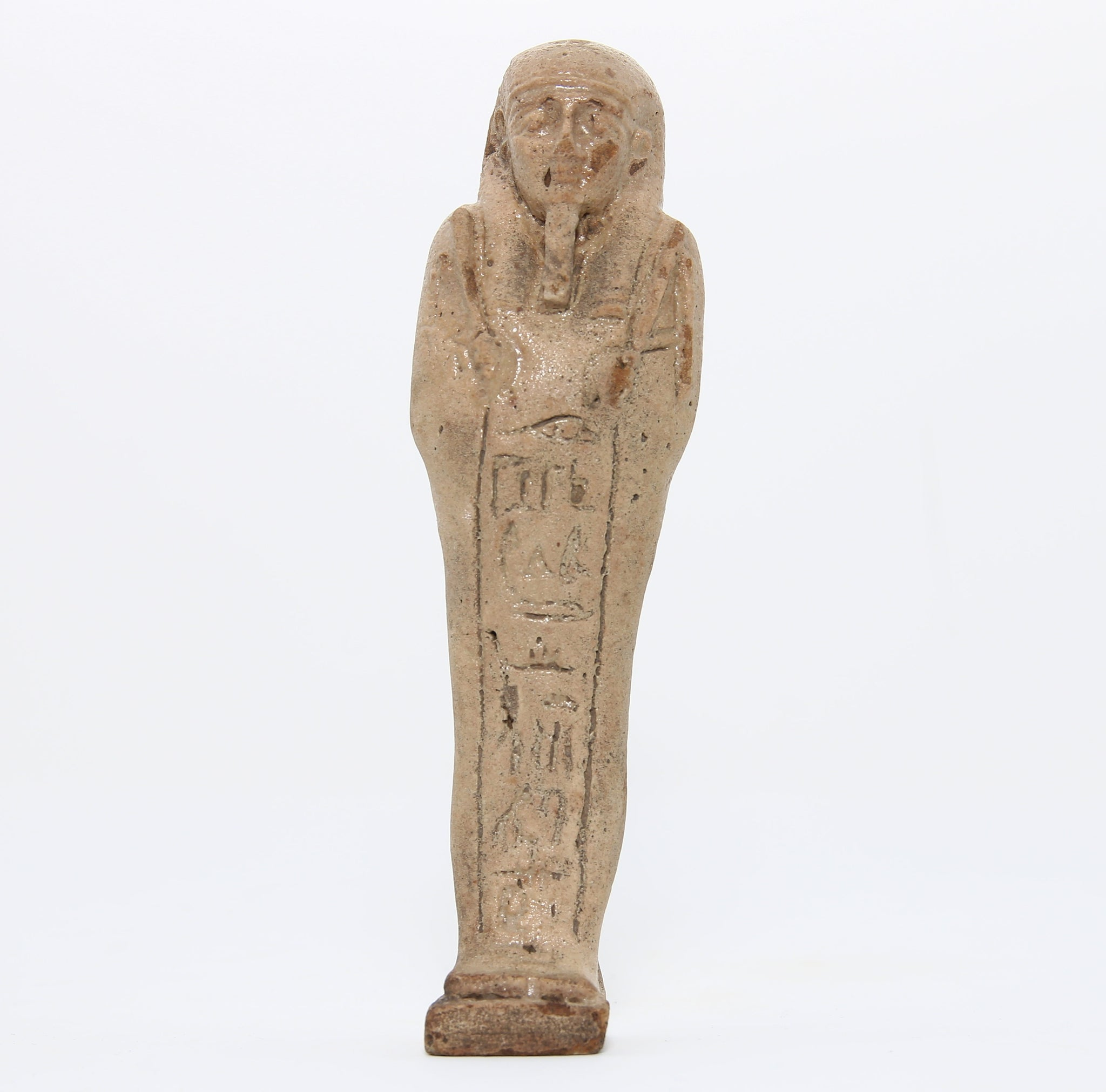 A faience shabti figure with incised inscription | Egypt, Late Dynastic Period c. 380-343 BC