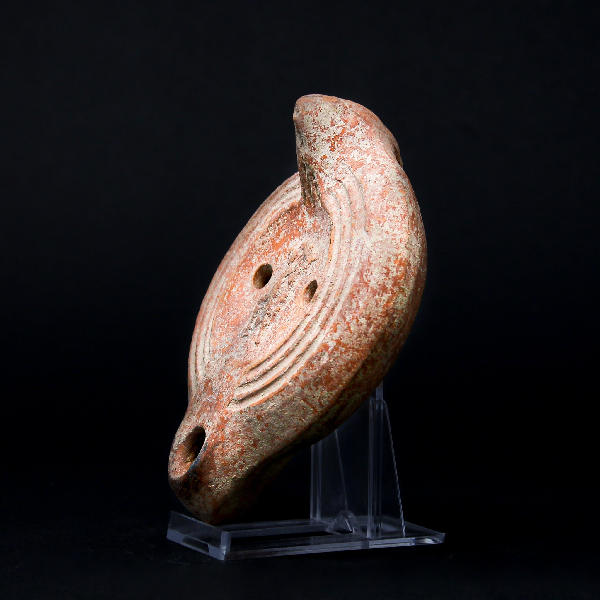 A Roman Terracotta Oil Lamp with Dancer | Circa 1st-3rd Century AD