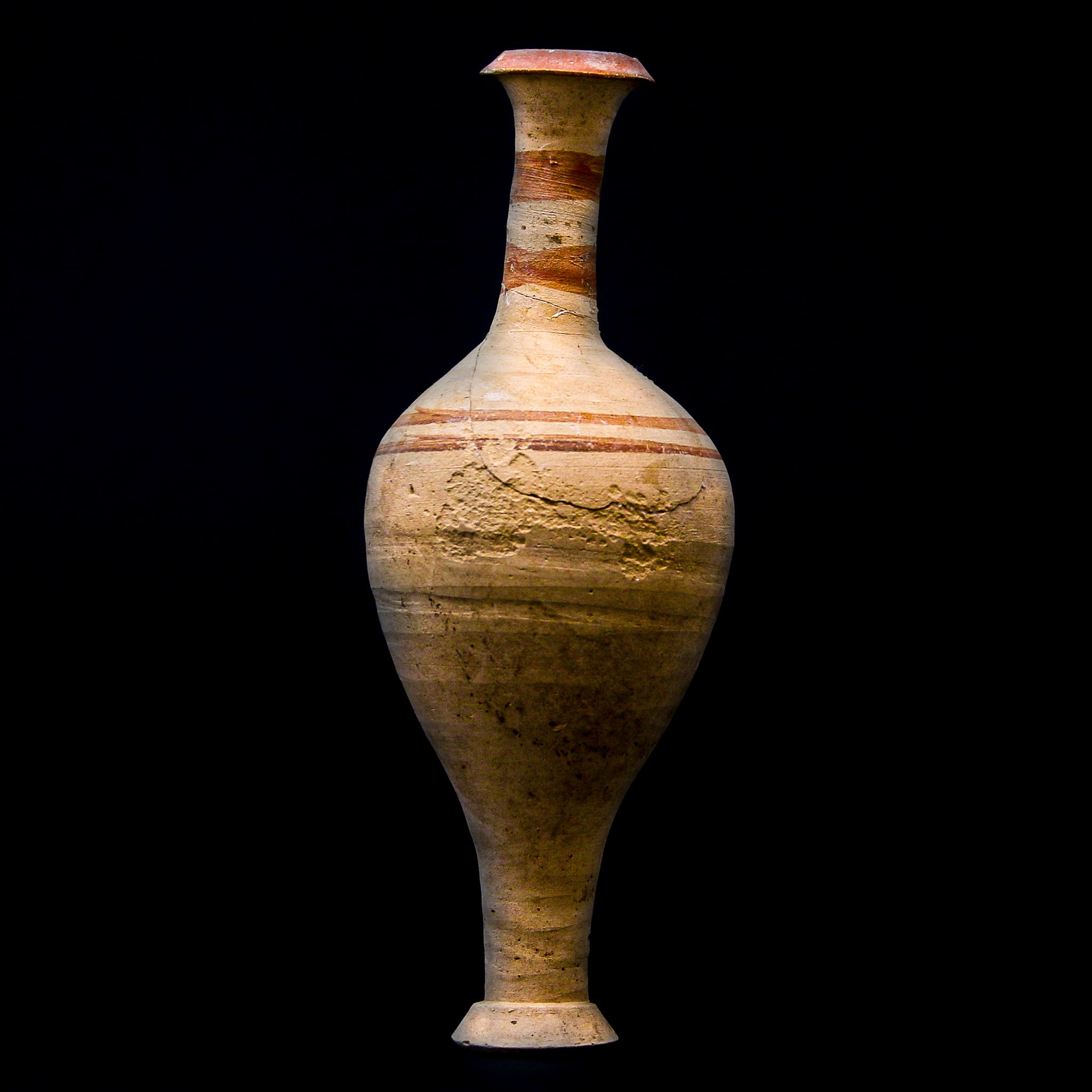 A Greek Ceramic Amphora with Crimson Rings | 5th-3rd century BC