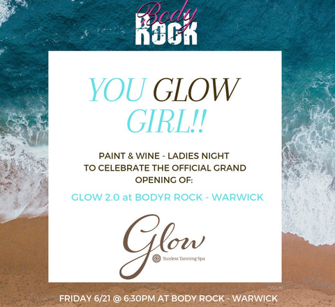 Glow 2.0 @ Body Rock Warwick Paint and Wine Party