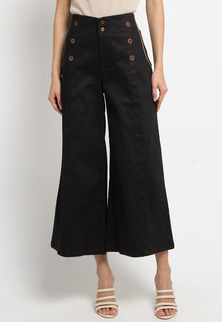 Pocket Trim Military Culottes