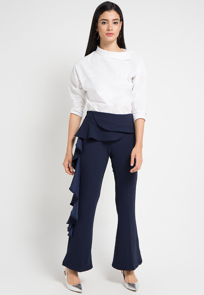Flared Side Maxi Pants, Pants, Meitavi's