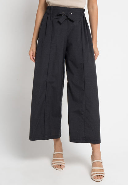 Eyelet Tapered Maxi Culottes, Pants, Meitavi's
