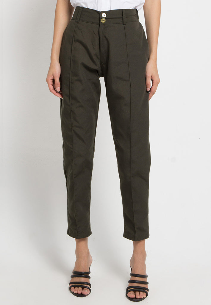 Canvas Tapered Pants