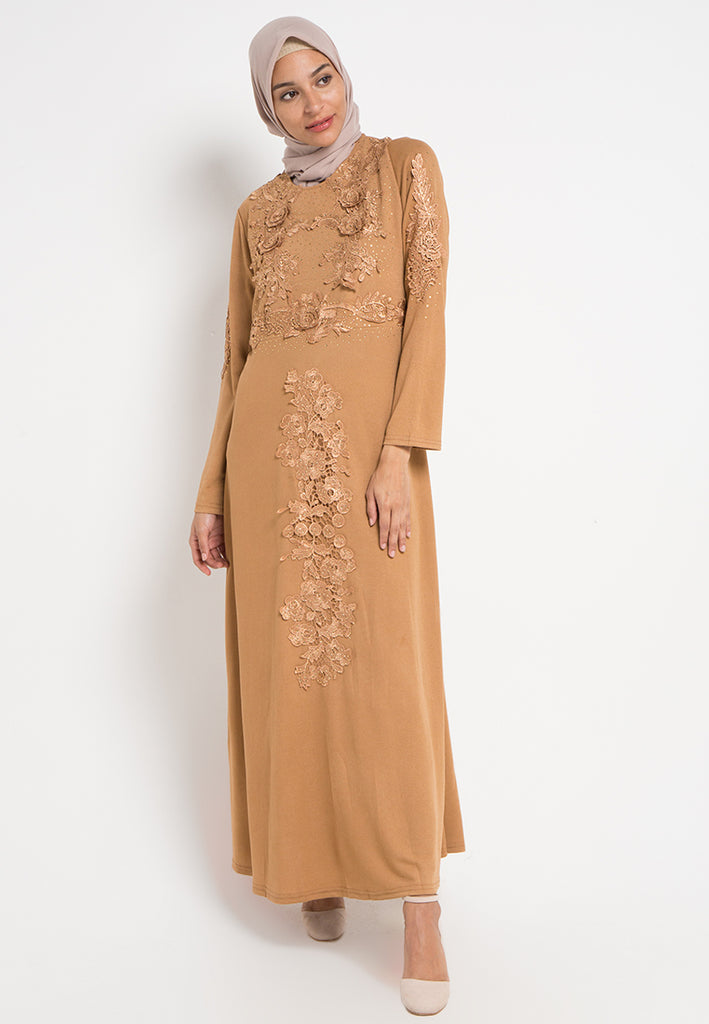 Rose Brocade Gamis Dress