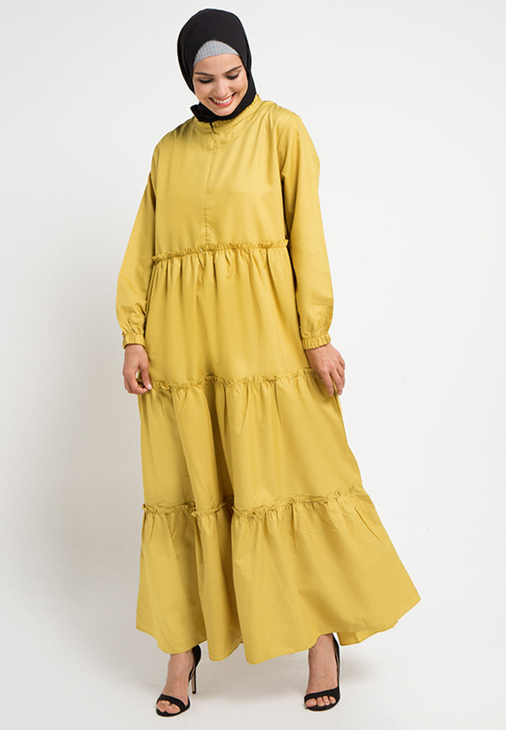 Layered Cotton Gamis Dress, Gamis, Meitavi's
