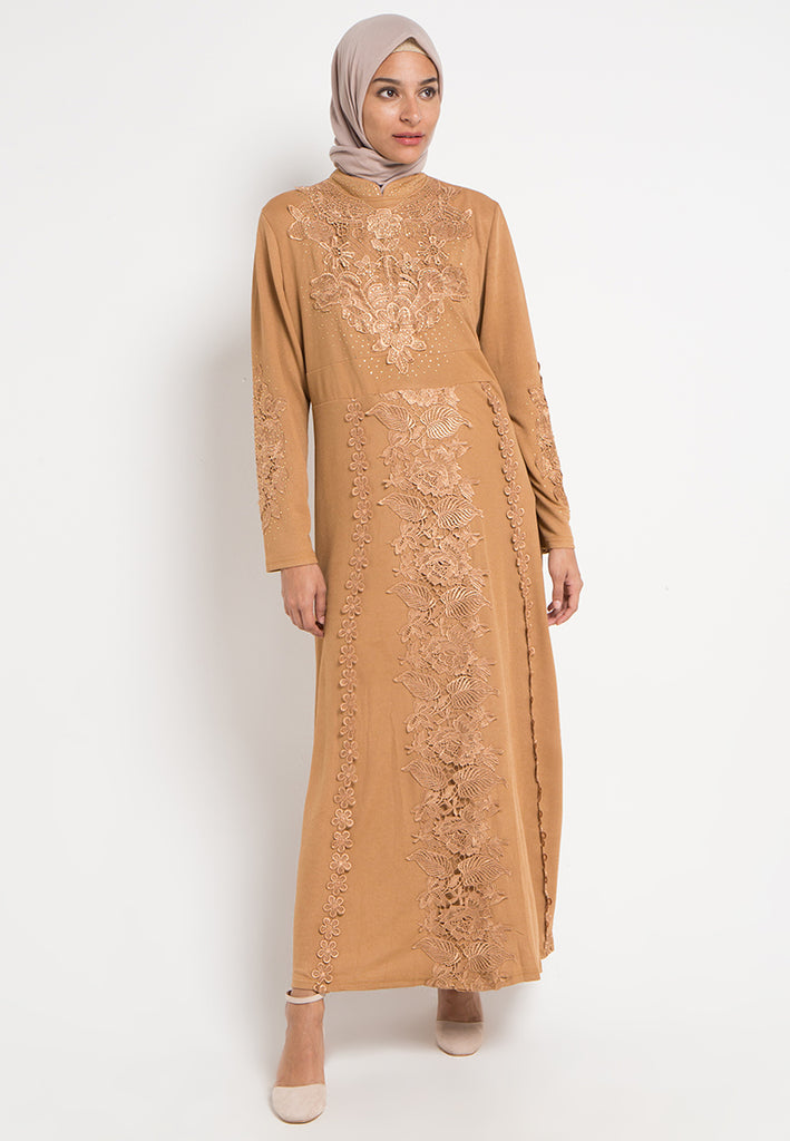 Vines Brocade Gamis Dress, Gamis, Meitavi's