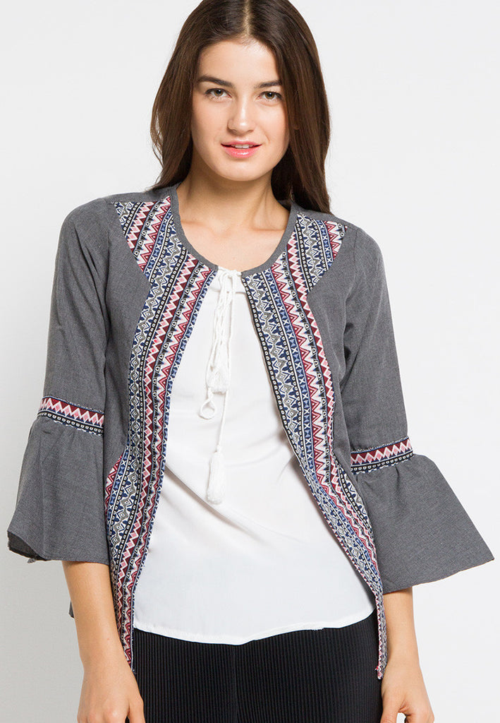 Tribal Cardigan Top, Tops, Meitavi's